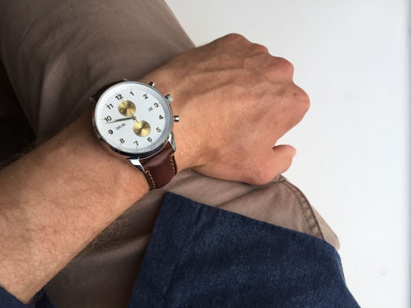 DR.W.-Pocket-Wrist-Clock-White-Strap-Faded-Dark-Brown