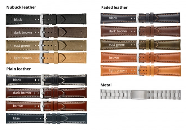 DR.W. - Overview of all straps